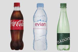 Coca, Evian ou Badoit